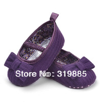 Very Cute Purple Bow Shoes children's shoes Baby Shoes soft sole baby shoe for Girls