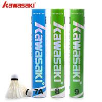 1 tube badminton KAWASAKI somateria goose feather badminton ball 8 9 7a