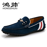New 2014 flats men genuine leather Driving Shoes male Moccasins loafers boat shoes creepers canvas shoes panama jack  casual