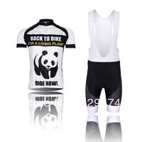 High Quality!2014 New Xin Heng Panda Cycling Jersey short sleeve bib pants/pants Quick Dry Breathable Size XS-4XL GEL PAD W-762