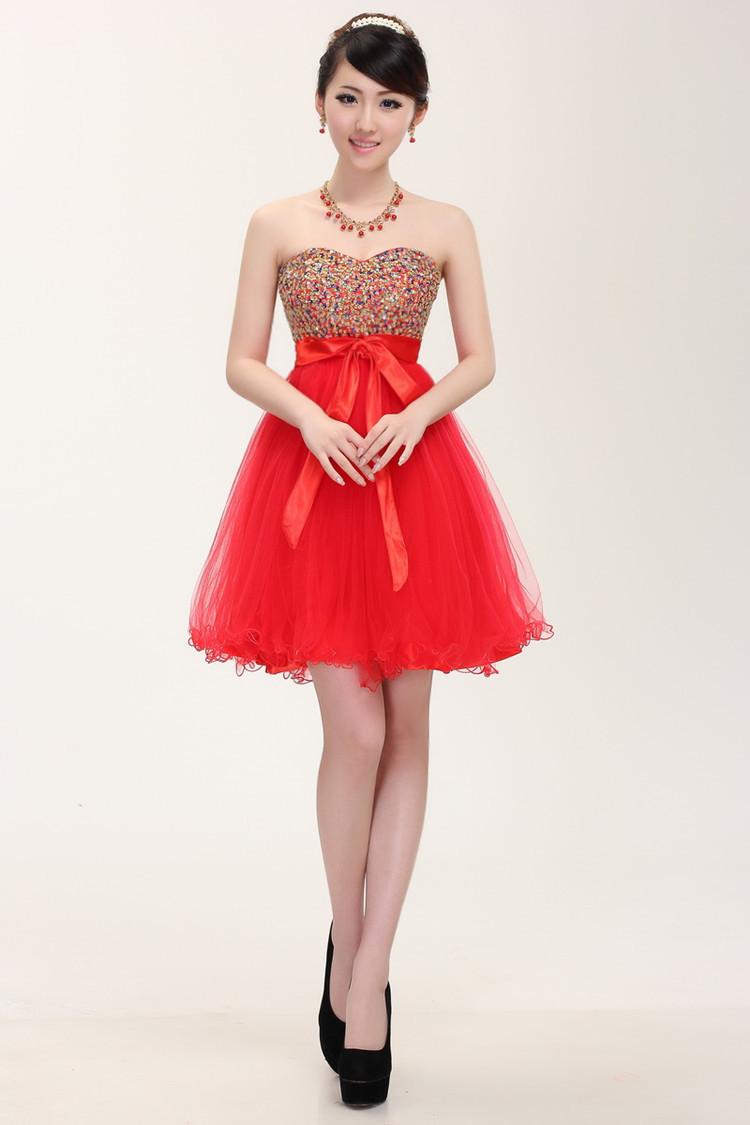 2014 korean elegant sexy strapless formal dress bride bridesmaid