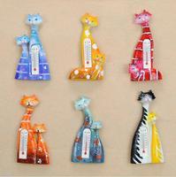free shiping wholesale Thermometer couples cat Fridge magnets Ceramic fridge magnets