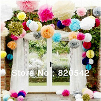 Free shipping Wholesale 40pcs/Lot six size paper flower party decorations handmade paper flower wedding decoration for Christmas