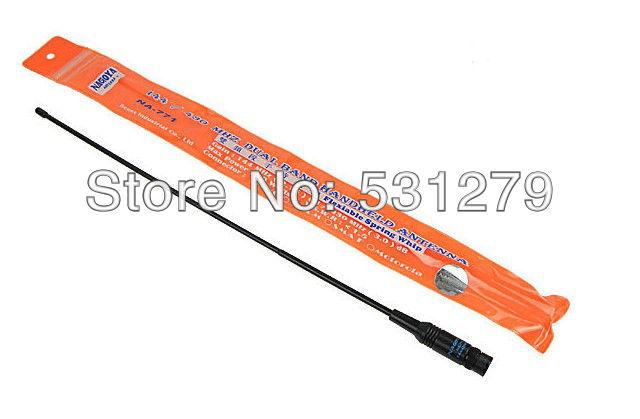 10xBNC UHF+VHF Handheld walkie talkie Antenna for TK100 TK200 IC-V8 IC-V80 IC-V82 IC-U82 ICOM NAGOYA NA-771 J0231A(China (Mainland))