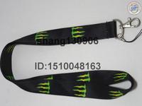 hot sale Free Shipping Green Monster logo key lanyard mobile neck strap ID phone strap vendor