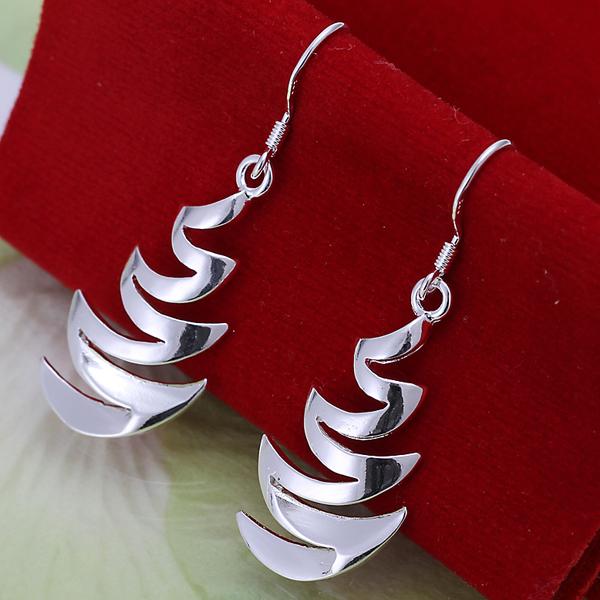 2014 New Fashion Channel Earrings 925 Silver Earrings For Women Silver Dangle Earrings E024(China (Mainland))