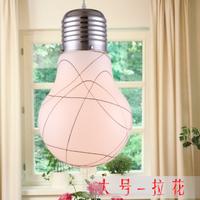 Lang lighting contracted personality big bulb chandelier creative aluminium wire glass restaurant bedroom balcony lamp light bar