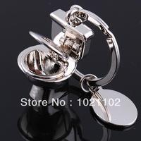 Mini Bathroom Closestool Key Ring Mini Chain Keychain Cute Creative Free shipping