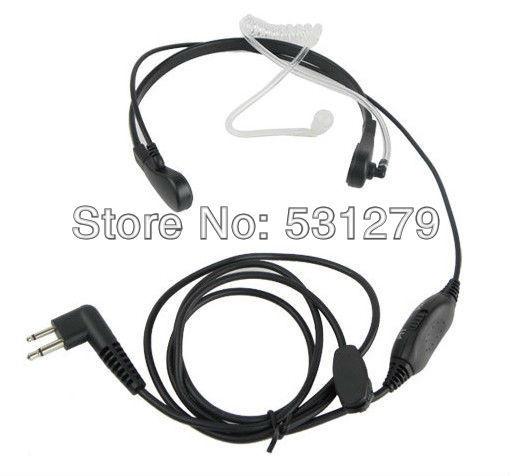 5pcs/lot Throat Mic Headset Air Tube Earpiece VOX for Motorola GP300 88 2000 GP3688 Walkie talkie interphone C0144A(China (Mainland))