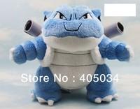 "Plush Poke dolls pokemon blastoise 9"" pocket monsters anime toys Cuddly gifts baby dolls Stuffed toys Christmas gifts 3pcs/lot"