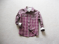 BT4003  Boy's  cotton plaid shirt long sleeve  spring autumn top 8pcs/lot