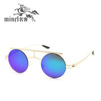 Circle ultra-light women's personality male sunglasses prince's 2014sunglasses vintage mirror small glasses