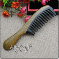 Natural horn comb wooden comb green sandalwood combs anti-hair loss anti-static gift