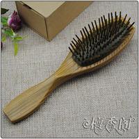 Ebony jade natural green sandalwood combs sanalwood hair care gasbag massage comb