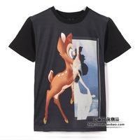 Summer 2014 Bambi fashion - digital printing Mens T-shirt