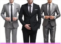 NEW 2014 100%Good quality Slim Custom Fit Tuxedo Brand Fashion Bridegroon Men's Business Dress Suits Blazer,S-3XL,Jackets+Pants