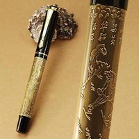 Перьевая ручка stationery school pen office supplies, high quality grey & golden B Nib Noble fountain pen, JINHAO 450