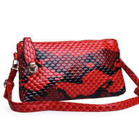 New Arrival Fashion Women's Messenger Bags Evening Clutch+Shoulder+Tote+ Snake Messenger Bag with Lucky Buckle