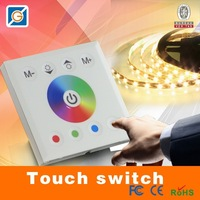 NEW LED Controller RGB Full Color Touch Panel Wall Mounted For LED Strip Light Home lamp Lighting Dimmer DC12-24V 4channel CE