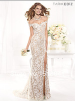 Bling Long Lace Full Figure Evening Dress 92388 tarik ediz dresses 2014