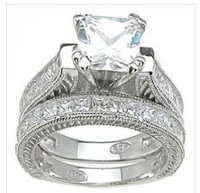 2.57ct ENGAGEMENT RING WEDDING SET PRINCESS ~ BRIDAL
