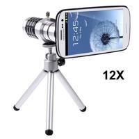 new 2014 Aluminum 12X Zoom Telescope fisheye Lens Camera Tripod For Samsung Galaxy S3 i9300 Free Shipping