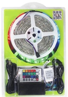 Christmas lights Kit LED Strip SMD 5050 RGB Colorful Light 30 leds / M +12V Power Supply + Remote Control IP65 Waterproof Set