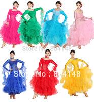Ballroom Standard Smooth Dancewear Waltz Latin Salsa Dance Dress DW185