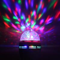 Small led crystal magic ball laser light ktv light rotating colorful lights lamp
