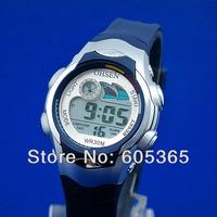 Digital Light Alarm Girls Boys Children Dark Blue Sport Wrist Watch Nice Gift Wholesale Price