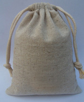 FREE SHIPPING 10 PCs Cotton Jute Drawstring Bags Pouches Jewelry Packaging Bags Wedding Party Candy Gift Bag 8x12CM