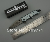 12 PCS/LOT MF2 5cr13mov blade pocket knife titanium ion folding knife 56HRC hardness gift knife camping knife FREE SHIPPING