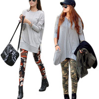 Cool Sexy Ladies Camouflage Army Print Stretch Jeggings Pants Leggings Trousers Free shipping & Drop shipping