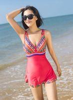 2014 new Ethnic women swimwear one piece swimsuit skirt big sizes