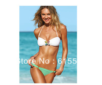 New Fashion Diamond Decorate Women Swimwear Push-Up Elegant Bikinis Set 048