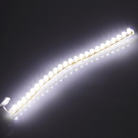 1 pcs 24 LED Strip Car Auto Motorcycle Flexible Grill Light Lamp Bulb DC 12V Hot!