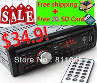 Car Radio Player MP3 FM/USB/1 Din/remote control/USB port 12V Car Audio Auto Steoro Car MP3