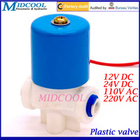 "Plastic water dispenser 2 way solenoid valve G1/4"" 12V DC for RO machine, water purifier, water dispensers"