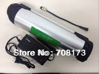 FREE  shipping  1pcs/lot  48V 12AH Waterbottle type Lithium Ion Battery for Electric Bike Conversion kit  with BMS,charger
