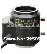 Auto Iris 2.8-12mm 2megapixel varifocal IR metal CS lens with Japan motor, F1.4, manual focus&zoom, viewing angle 90~28degrees(China (Mainland))