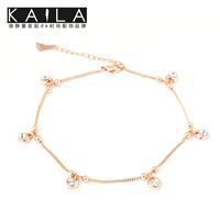 Kaila anklets female fashion diamond rose gold