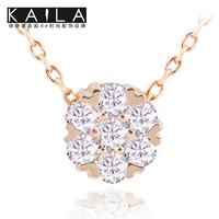 Kaila chain female diamond necklace short design birthday gift