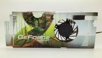 XFX 9600GT 9800GT 3 heatpipe graphics card heatsink copper 4 wire pwm fan