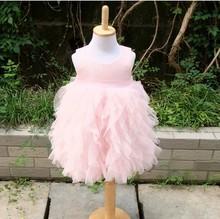 Девушки платья детская одежда эмили amp. Бетти принцесса многослойные розовый блестка тюль платье хлопок магриба 100%