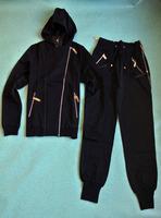 2014 New arrival Women's casual long sleeve metal oblique zipper Cotton Slim pants suit solid color leisure suit set free ship
