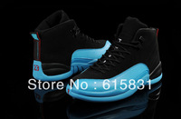 Free shipping Wholesale 2014 new color black blue retro 12 shoes, j12 basketball shoes for men size US 8~13