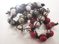 free shipping new design shambala bracelet  braided bangles 4 colors one size valintine's gift