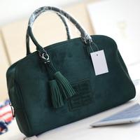 Miss suki high quality suede fabric women's handbag tassel bag messenger bag handbag bucket handbag vintage big bag