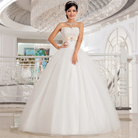 Free Shipping! 2014 New Arrival luxury lace Slim Tube Top Princess Wedding Dress