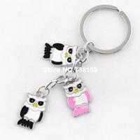 Free shipping llavero de aves hot sale gift animal key rings nice bird shaped commodity wholesale fashion enamel ow key chains